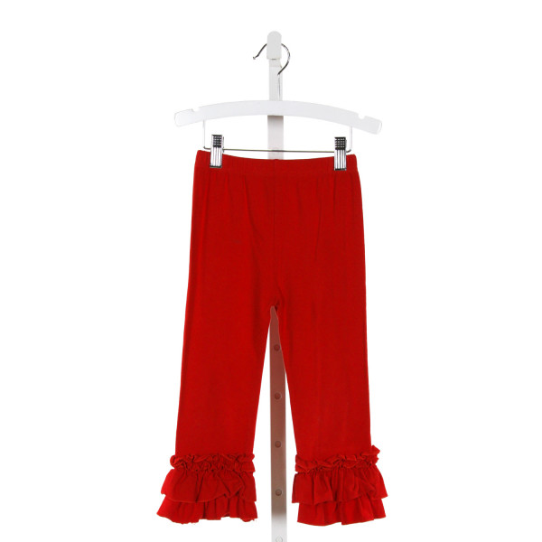 SMOCKED POLKA DOT  RED    PANTS WITH RUFFLE