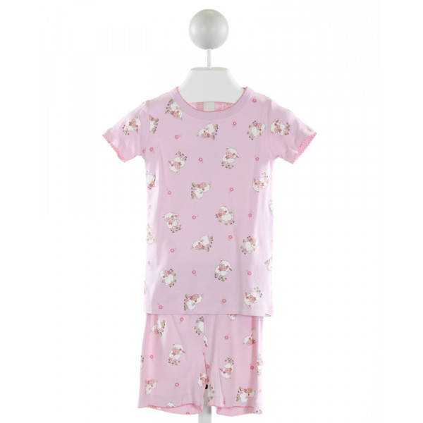 MAGNOLIA BABY  PINK   PRINTED DESIGN LOUNGEWEAR WITH PICOT STITCHING