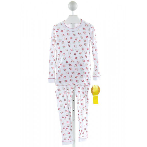MAGNOLIA BABY  WHITE   PRINTED DESIGN LOUNGEWEAR WITH PICOT STITCHING