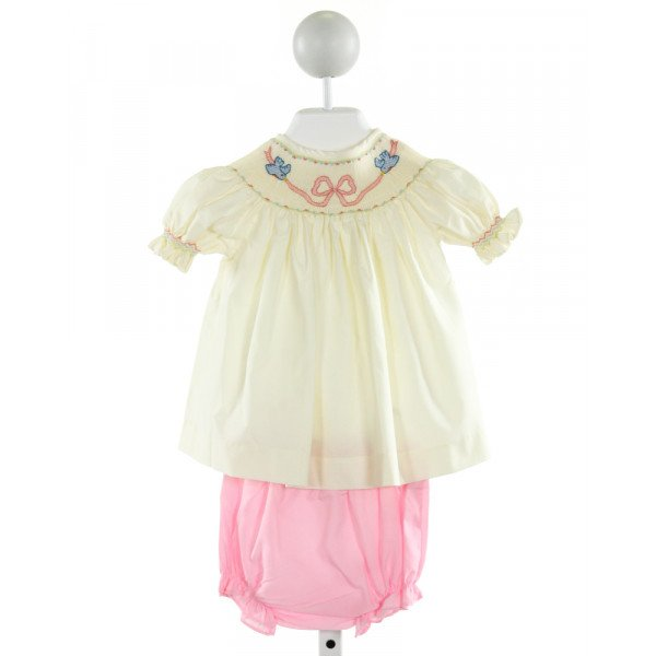 THE SMOCKLING  PALE YELLOW   SMOCKED 2-PIECE OUTFIT WITH RUFFLE