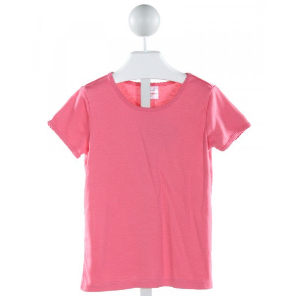 HANNA ANDERSSON  HOT PINK    KNIT SS SHIRT
