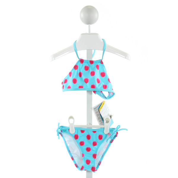 SNAPPER ROCK  LT BLUE  POLKA DOT  1-PIECE SWIMSUIT