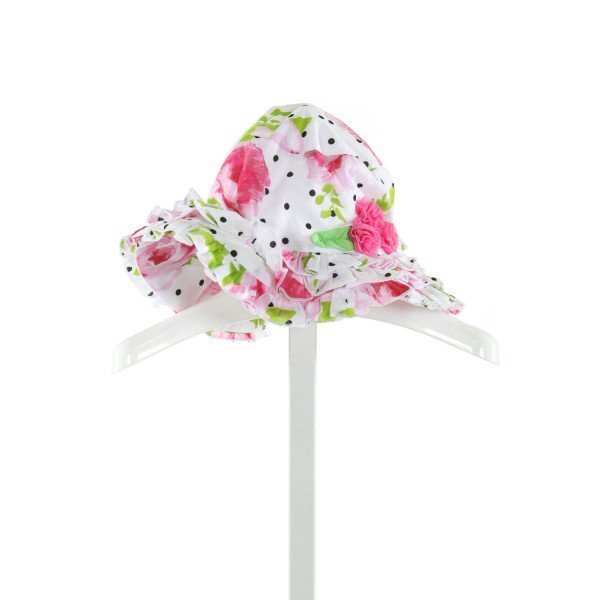 KATE MACK  WHITE  FLORAL  ACCESSORIES - HEADWEAR WITH RUFFLE