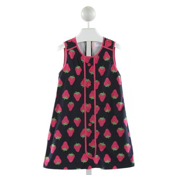 PETIT PEONY  NAVY   PRINTED DESIGN DRESS