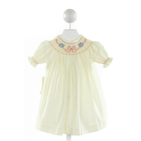 THE SMOCKLING  PALE YELLOW   SMOCKED DRESS WITH RUFFLE
