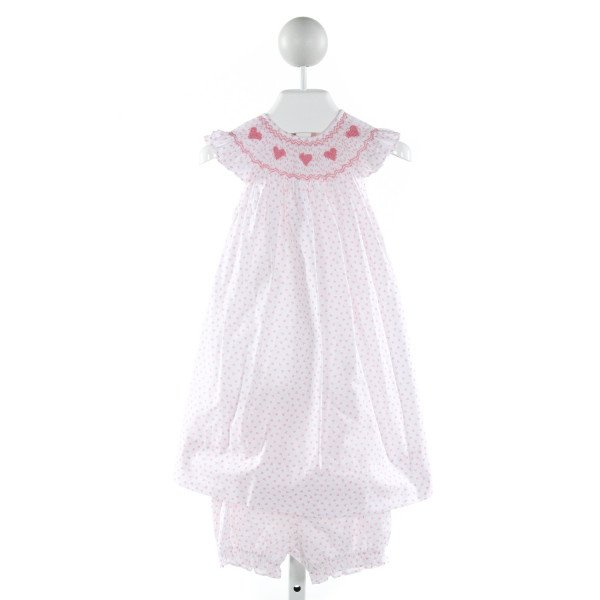 MARCO & LIZZY  OFF-WHITE  PRINT SMOCKED 2-PIECE OUTFIT WITH RUFFLE