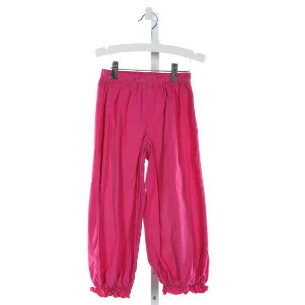 BENOIT & MATISSE  HOT PINK CORDUROY   PANTS WITH RUFFLE