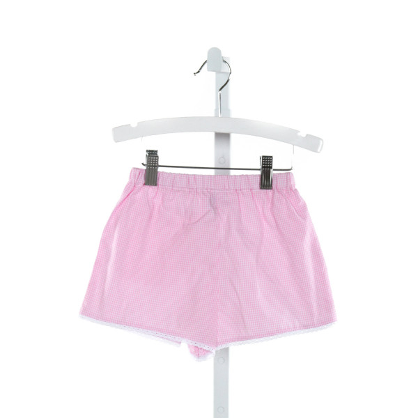 MARY & GRACE  HOT PINK  GINGHAM EMBROIDERED SHORTS