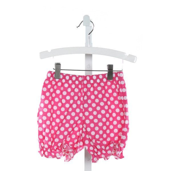 KELLY'S KIDS  HOT PINK  POLKA DOT  SHORTS WITH RUFFLE
