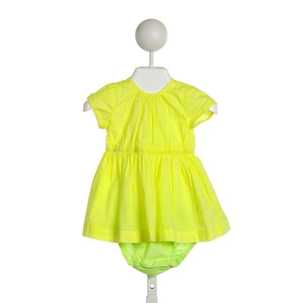 J. CREW BABY (CREWCUTS) NEON YELLOW SEERSUCKER AND GREEN SET *SIZE 0-6M