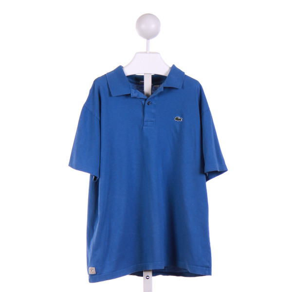 LACOSTE  BLUE    KNIT SS SHIRT