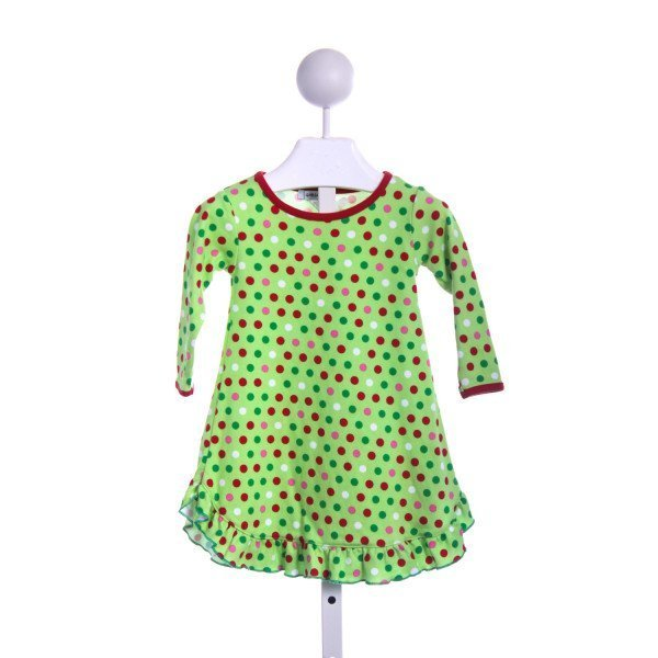 GABIANO GREEN AND RED POLKA DOT CHRISTMAS GOWN