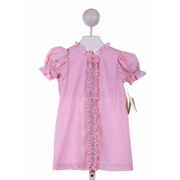 ZUCCINI  PINK   EMBROIDERED CASUAL DRESS WITH RUFFLE