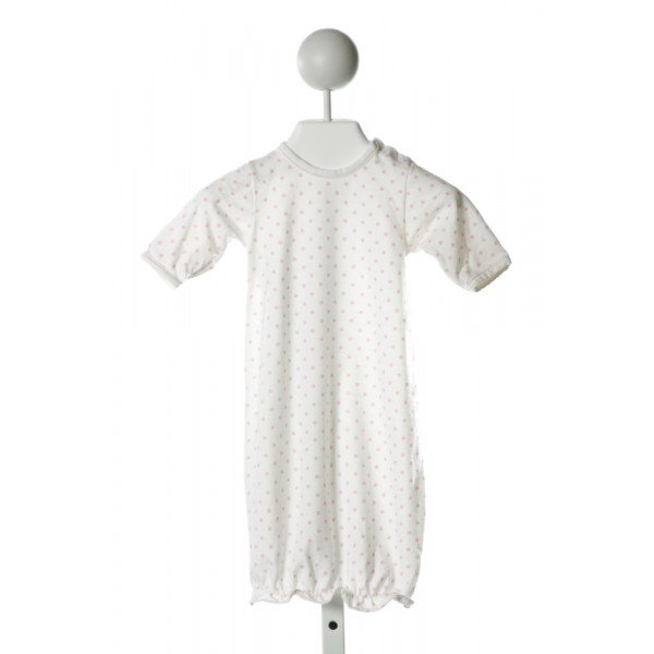 BEBE A MOI  IVORY  POLKA DOT  LAYETTE WITH RUFFLE