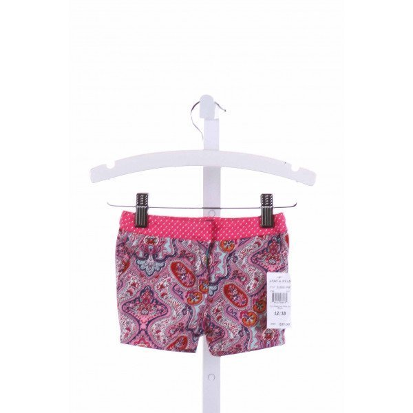 ANDY & EVAN  MULTI-COLOR  PRINT  SHORTS