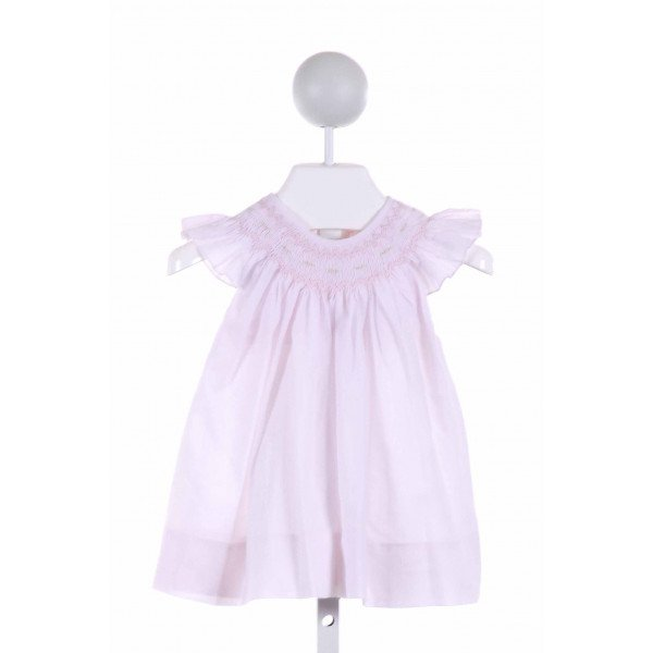 PETIT AMI  LT PINK   SMOCKED CLOTH SS SHIRT