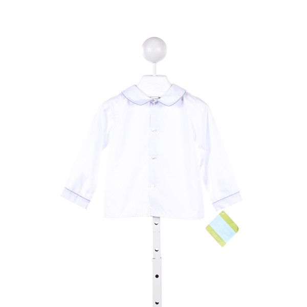 VELANI WHITE SHIRT WITH BLUE GINGHAM PIPING