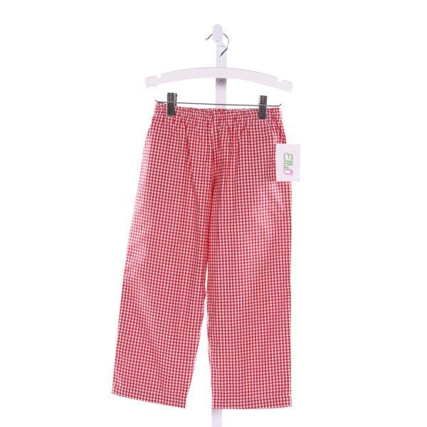 ELLIEO  RED  GINGHAM  PANTS