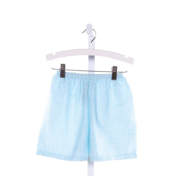 THREADS  LT BLUE SEERSUCKER GINGHAM  SHORTS