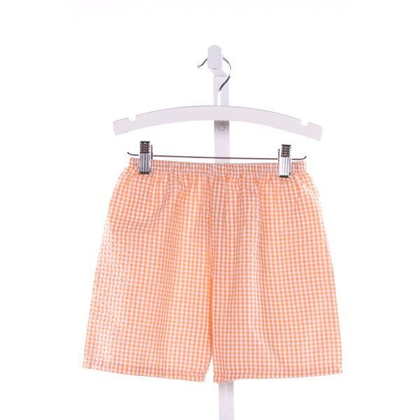 THREADS  ORANGE SEERSUCKER GINGHAM  SHORTS