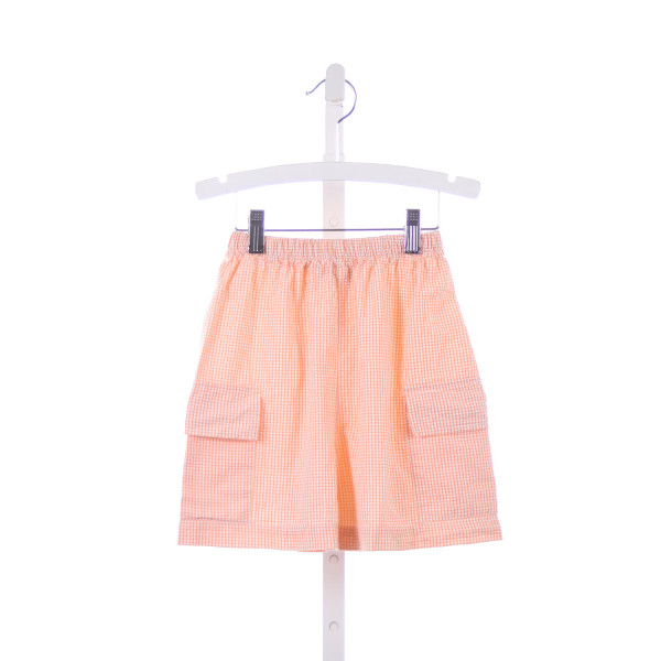 TWO FRIENDS ORANGE GINGHAM SEERSUCKER SHORTS