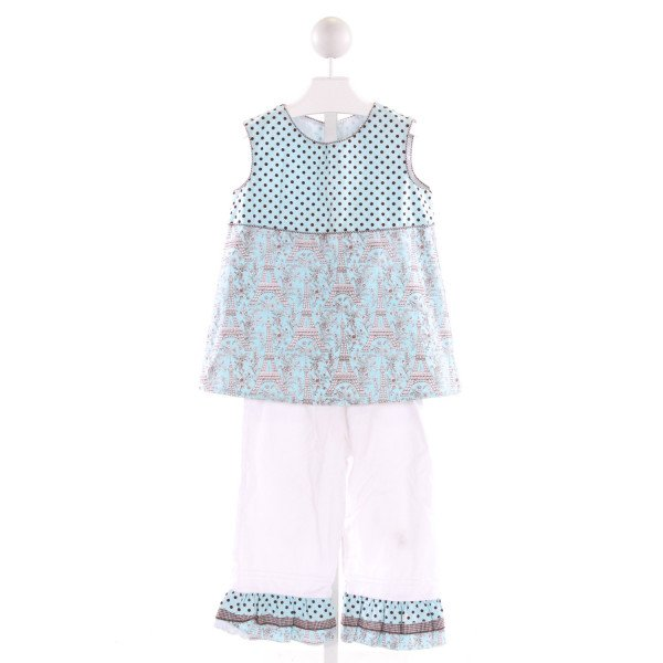 LA JENNS  MULTI-COLOR  POLKA DOT PRINTED DESIGN 2-PIECE OUTFIT