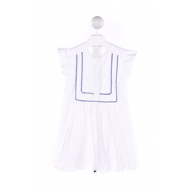 CREWCUTS  WHITE  TOP WITH RIC RAC