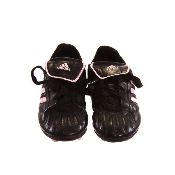 ADIDAS BLACK AND PINK CLEATS *SIZE 11.5, VGU - VERY MINOR DISCOLORATION