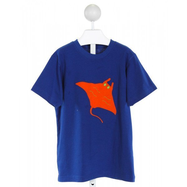 KELLY'S KIDS  ROYAL BLUE   EMBROIDERED T-SHIRT