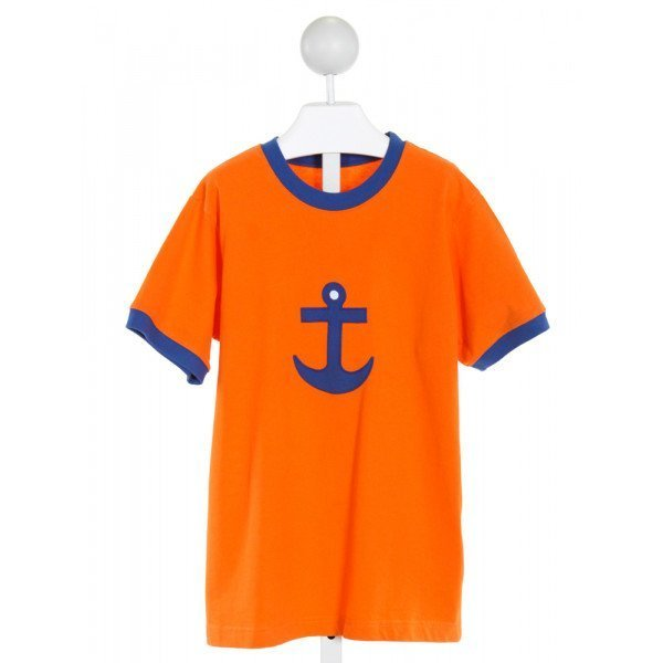 KELLY'S KIDS  ORANGE   EMBROIDERED T-SHIRT