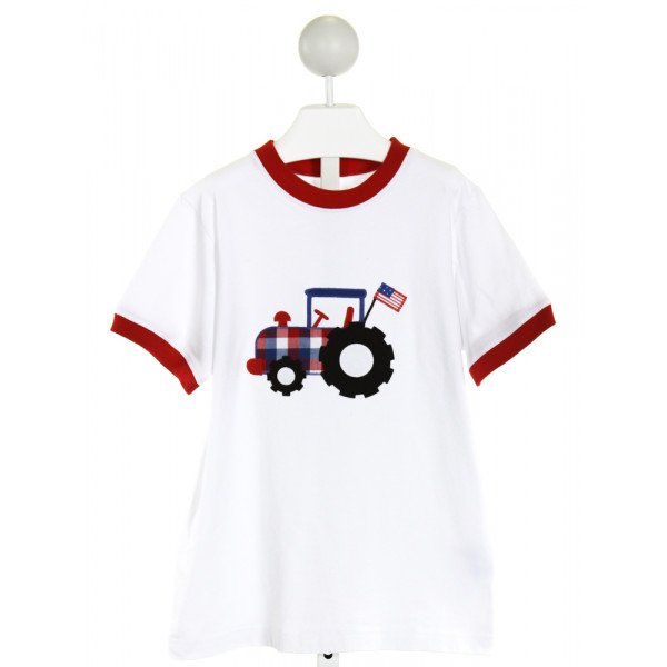 KELLY'S KIDS  WHITE   EMBROIDERED T-SHIRT