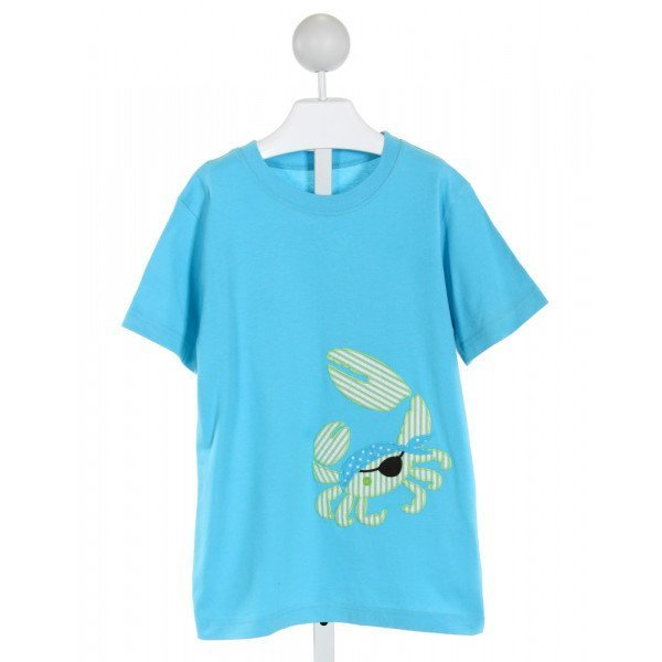 KELLY'S KIDS  AQUA   EMBROIDERED T-SHIRT
