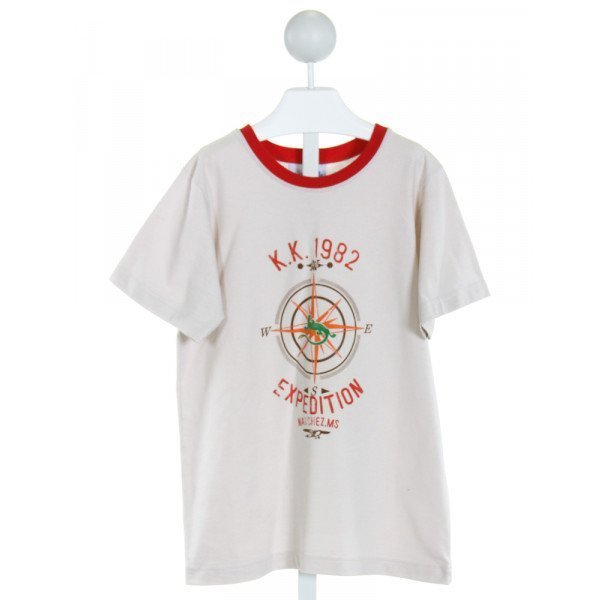 KELLY'S KIDS  SAND   PRINTED DESIGN T-SHIRT