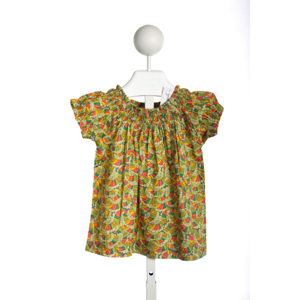 PEEK GREEN MULIT COLOR PRINT TOP *SIZE XS(2-3)