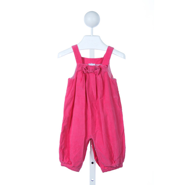 JACADI HOT PINK CORD ROMPER WITH BOW