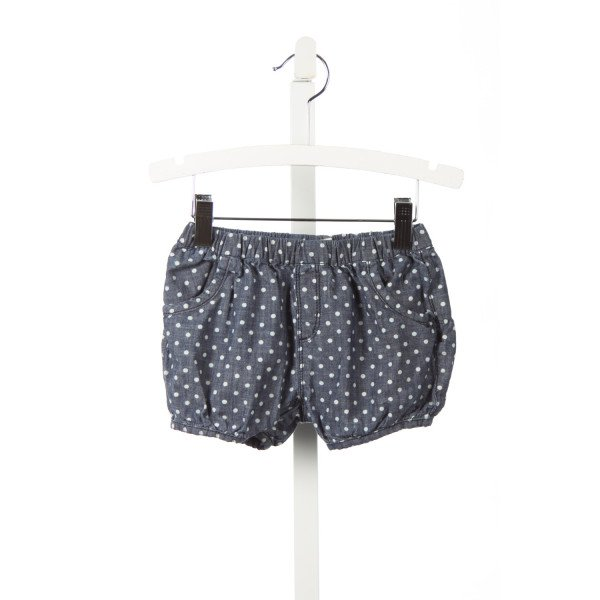 TUCKER & TATE CHAMBRAY BLOOMER SHORTS WITH POLKA DOTS