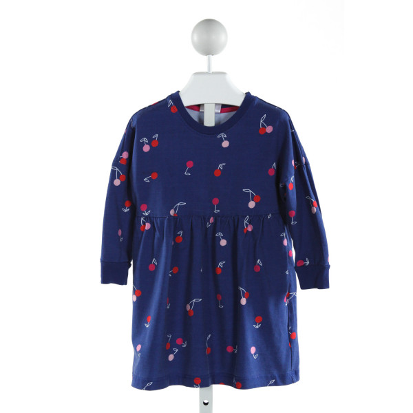 HANNA ANDERSSON  ROYAL BLUE   PRINTED DESIGN KNIT DRESS