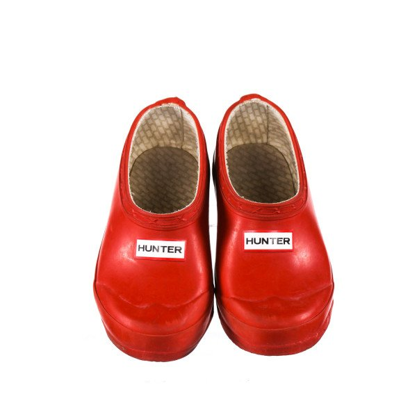 HUNTER RED CLOGS *SIZE 12 MALE/13 FEMALE, VGU- MINOR SCUFFING