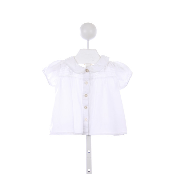 OLIVE JUICE WHITE BLOUSE WITH SMOCKING