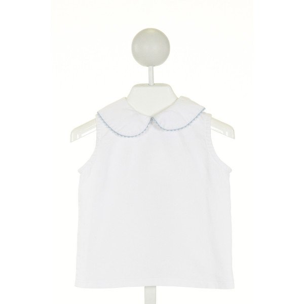 KATE & LIBBY  OFF-WHITE    CLOTH SS SHIRT WITH RIC RAC
