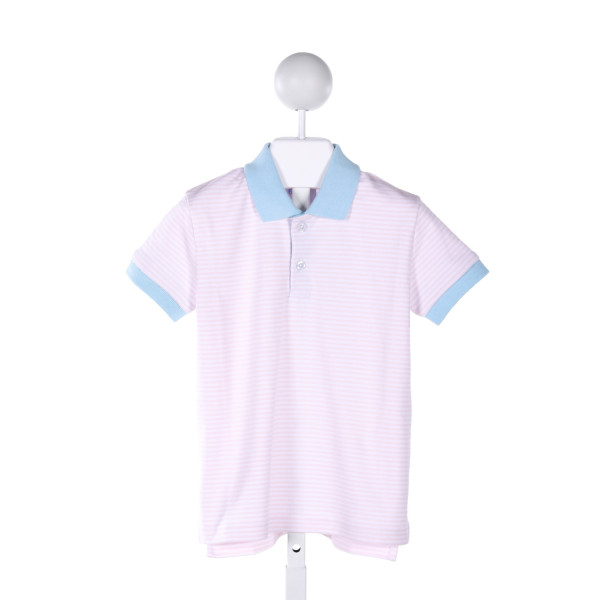 EYELET & IVY  PINK COTTON STRIPED  KNIT SS SHIRT