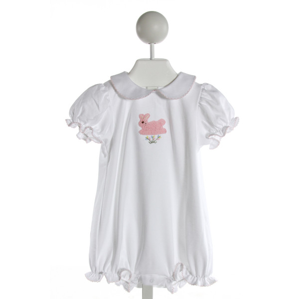 EYELET & IVY  WHITE   EMBROIDERED BUBBLE WITH RUFFLE