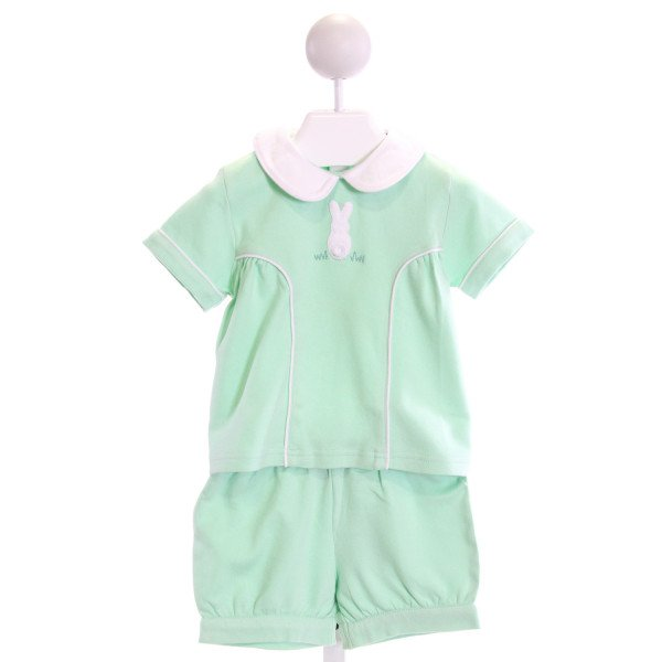 EYELET & IVY  MINT   EMBROIDERED 2-PIECE OUTFIT