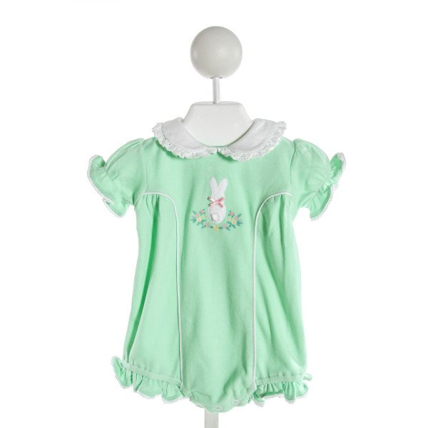 EYELET & IVY  MINT   EMBROIDERED BUBBLE WITH RUFFLE