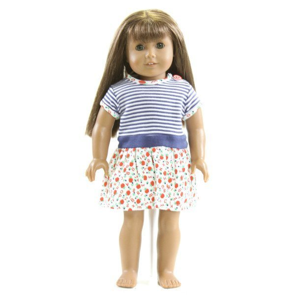 EYELET & IVY  NAVY  STRIPED PRINTED  DRESS DOLL ACCESSORIES