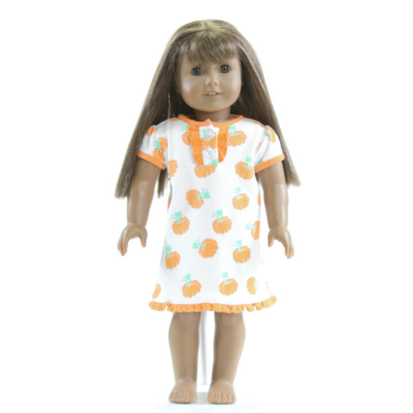 EYELET & IVY  PUMPKIN PRINTED DOLL ACCESSORIES