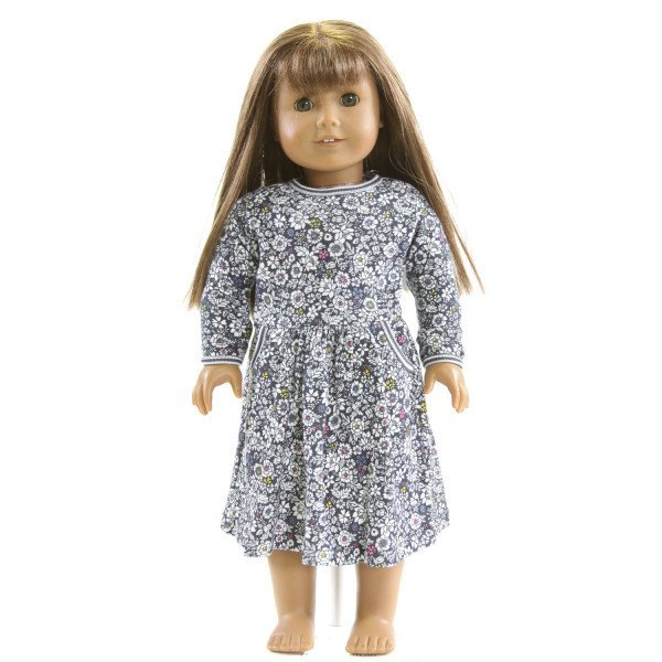 EYELET & IVY  NAVY  FLORAL  DRESS DOLL ACCESSORIES