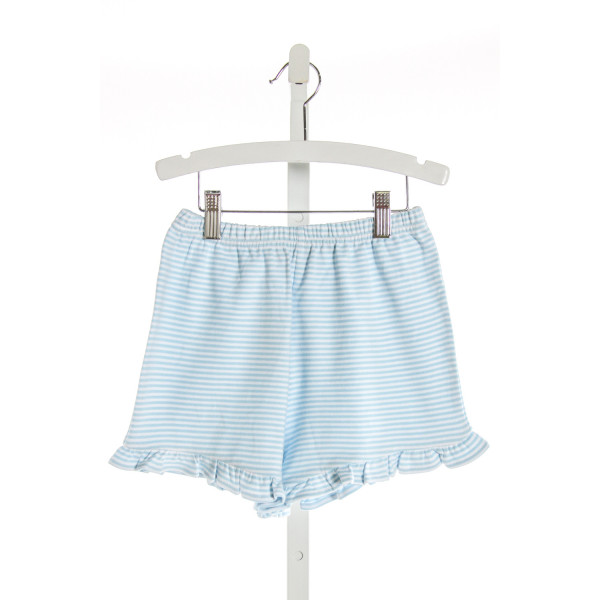 EYELET & IVY  LT BLUE  STRIPED  SHORTS WITH RUFFLE
