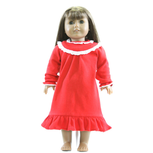 EYELET & IVY  RED    KNIT DRESS WITH EYELET TRIM  DOLL ACCESSORIES