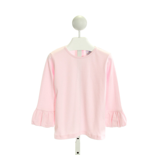 EYELET & IVY  PINK    KNIT LS SHIRT WITH RUFFLE
